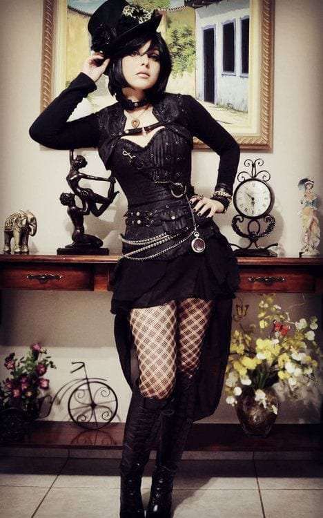 How to dress goth 12 cute gothic styles outfits ideas cute goth style outfit ideas 1 solutioingenieria Images