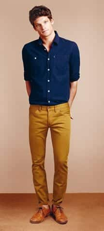 footwear-with-mustard-pants 15 Most Popular Casual Outfits Ideas for Men 2018