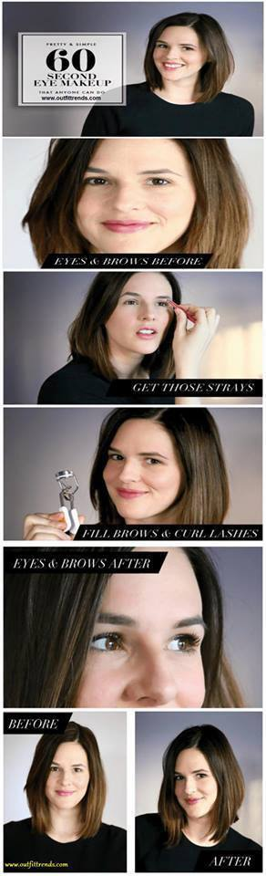 how-to-do-quick-eyemakeup 60 Seconds Quick Eye Makeup Tutorial Anyone Can do Easily