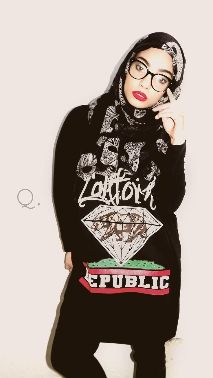 how-to-dress-like-goth3 Hijab Swag Style-20 Ways to Dress for a Swag Look With Hijab
