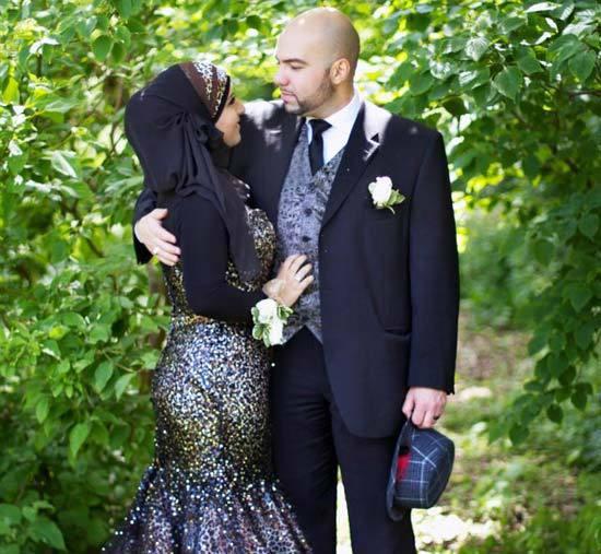 black islamic wedding dress