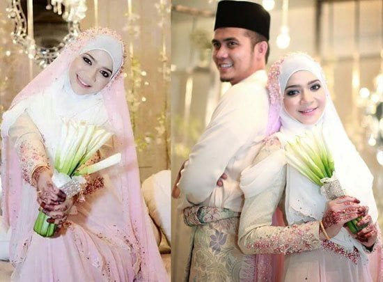 pink-wedding-dresses-12 150 Most Romantic and Cute Muslim Couples Pictures Collection