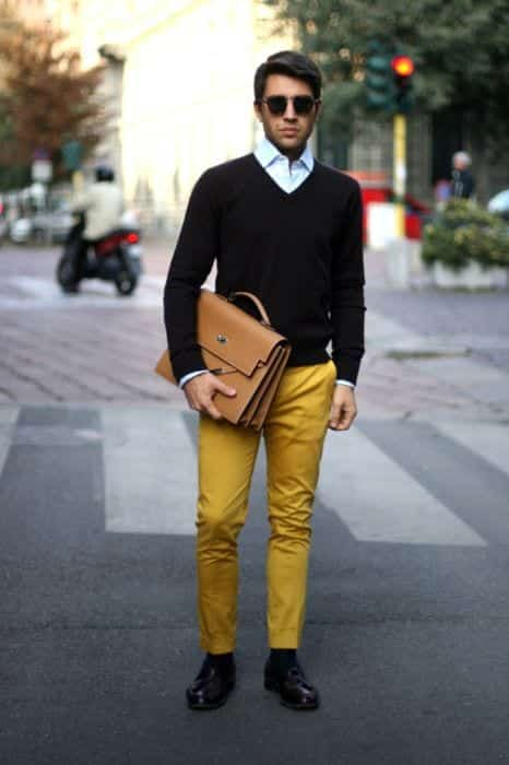 what-to-wear-with-mustard-pants 15 Most Popular Casual Outfits Ideas for Men 2018