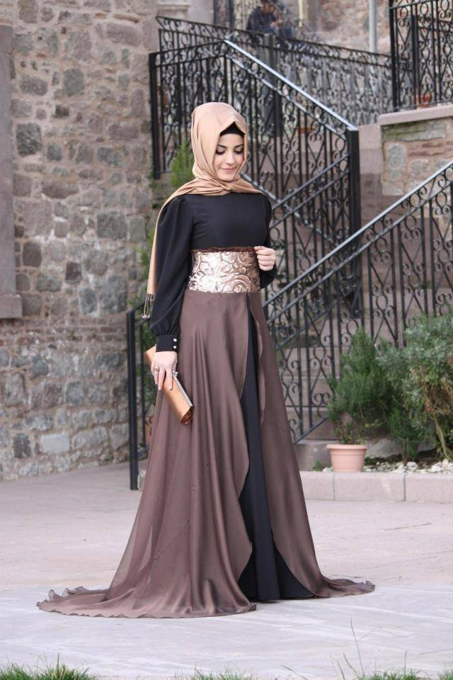 Two Tone Abaya with Hijab