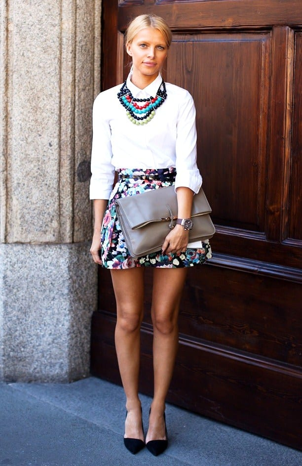 outfits to wear with statement necklace (7)