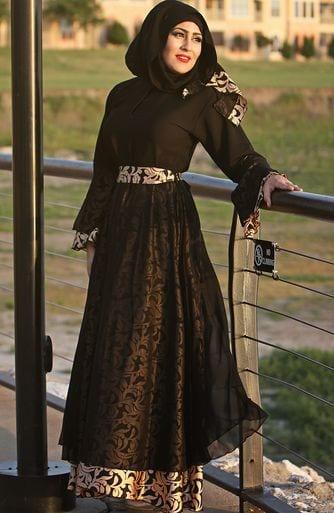 Hijab Style With Abaya-12 Chic Ways To Wear Abaya With Hijab