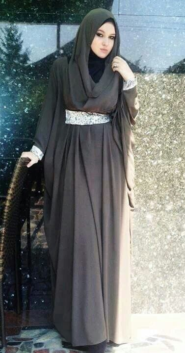 6ef2ae70bf398d99f0e75d964812b36b Hijab Style With Abaya-12 Chic Ways To Wear Abaya With Hijab