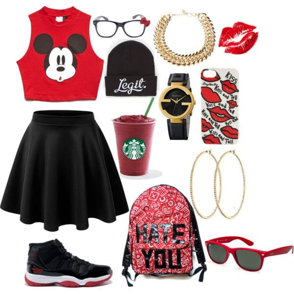 Mickey-with-Jordans 30 Cute Outfits Ideas to Wear with Jordans for Girls Swag