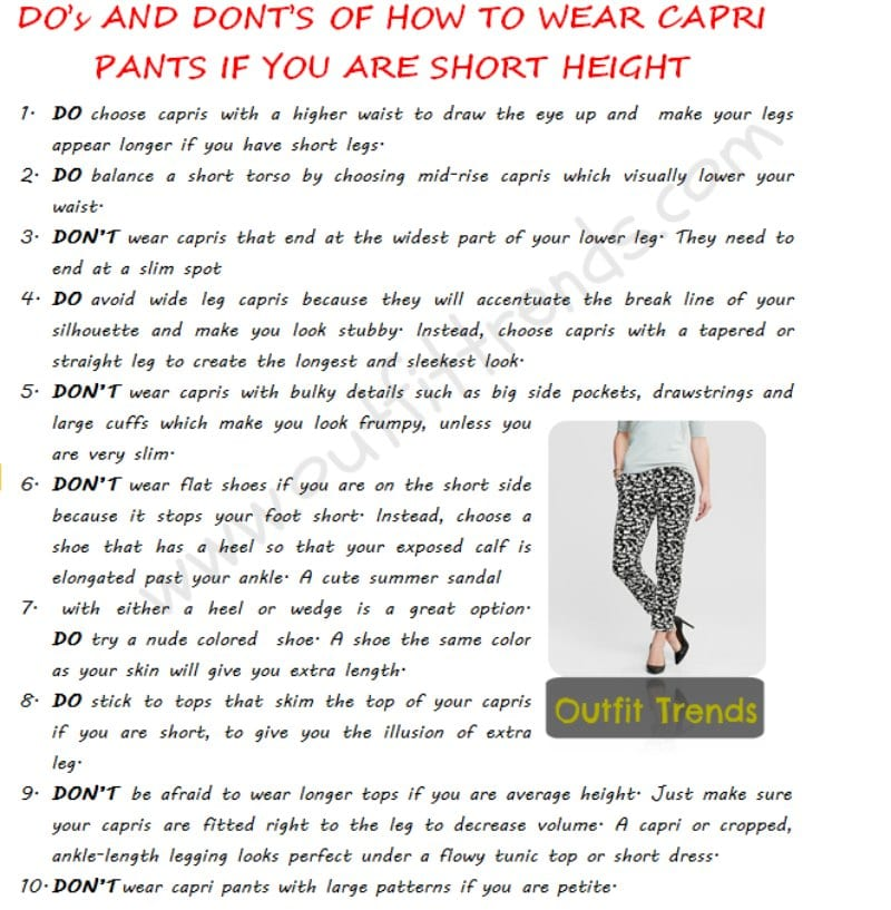 Best Tips On How to Wear Capri Pants if You are Short Height