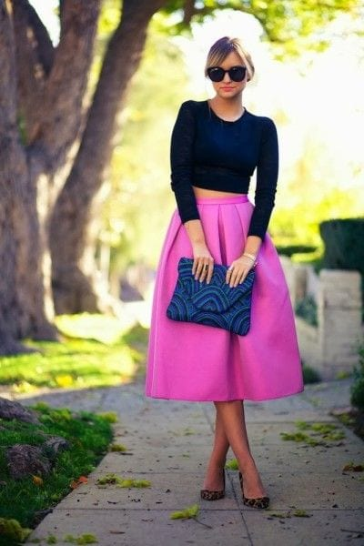 c43535f5e084aa675f9ac5d5f3387a43 Midi skirts outfits-16 Cute Outfits To Wear With Midi Skirts