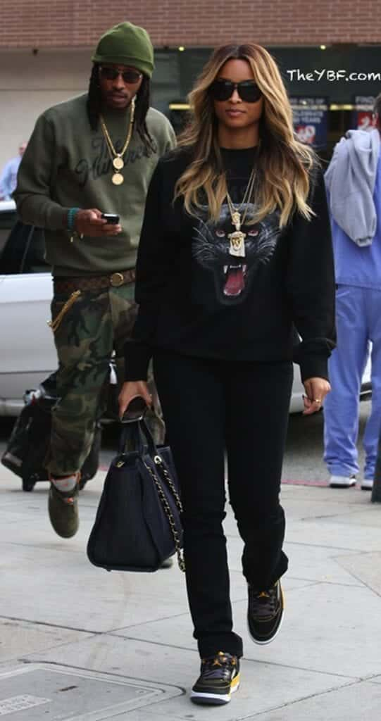 ciara-in-Air-Jordan-5-541x1024 30 Cute Outfits Ideas to Wear with Jordans for Girls Swag