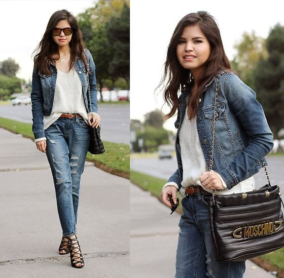 gladiator-heels-with-boyfriend-jean 30 Stylish Shoes to Wear With Boyfriend Jeans For Chic Look