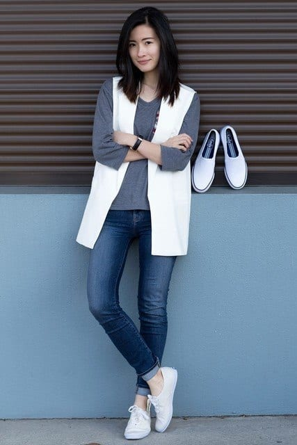 j-brand-dark-blue-keds-jeanslook-main-single 23 Cute Outfits To Wear With Sneakers for Girls This Season