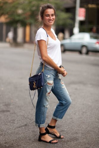 sandals-333x500 30 Stylish Shoes to Wear With Boyfriend Jeans For Chic Look