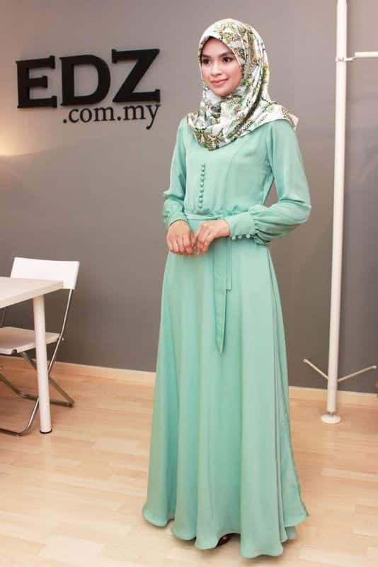 Hijab Maxi Style -20 Chic Ways To Wear Hijab With Maxi dress