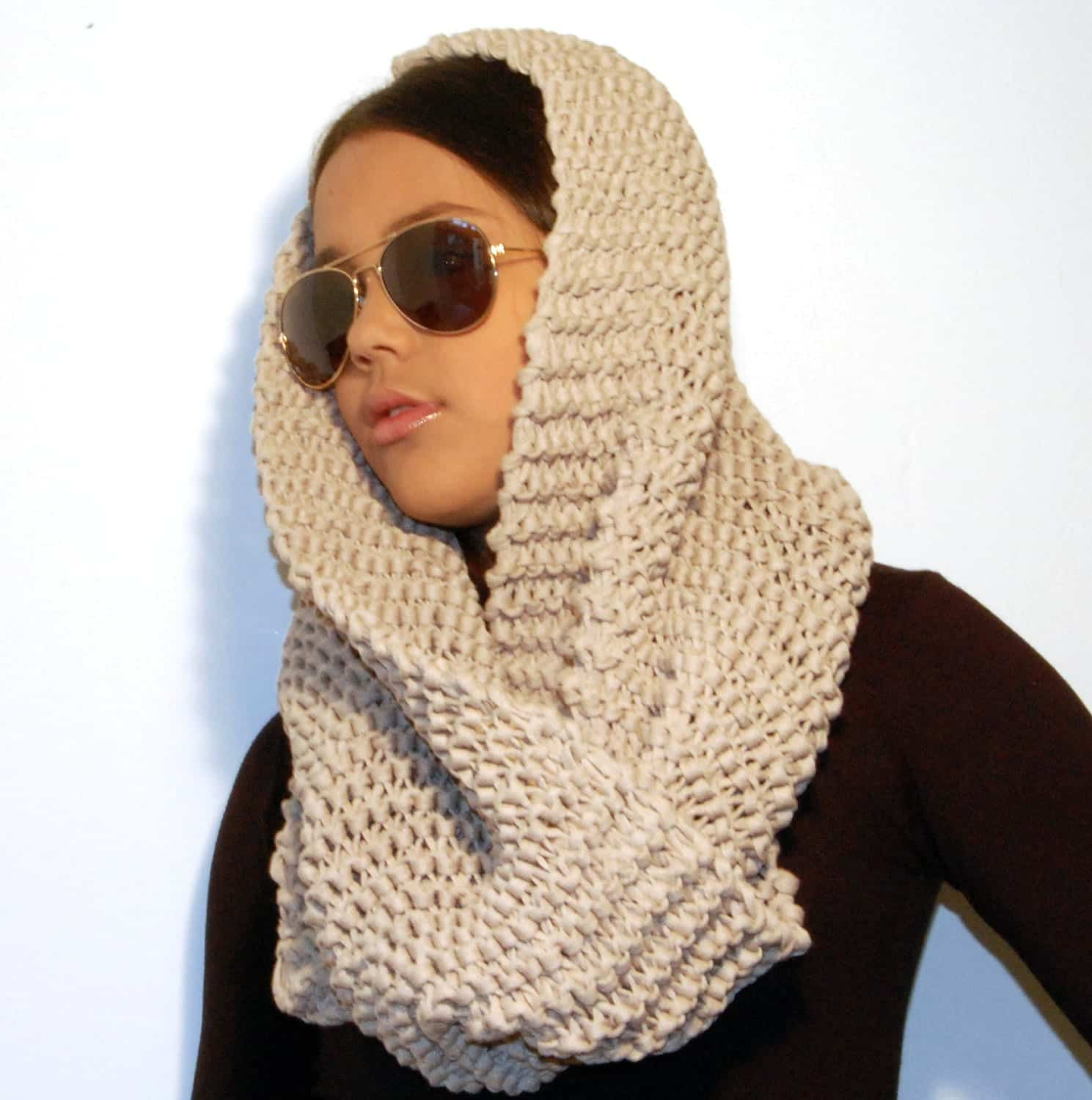 Pattern To Knit Infinity Scarf : Hijab With Infinity scarf - Simple Ways to Wrap and Wear it