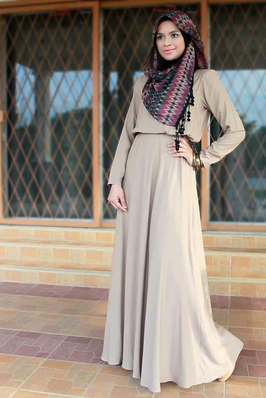 5560c0ff223c8f0956f8abb4a76eded9 Hijab Maxi Style- 20 Cute Ways To Wear Hijab With Maxi Dress