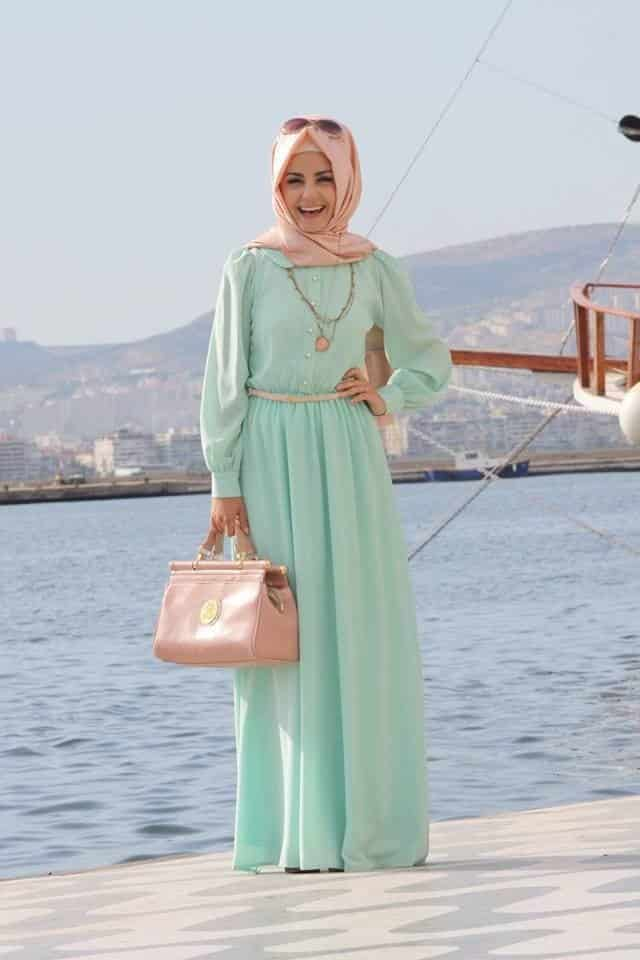 60efa183f19884cd930e6ff1ec9f48c8 Hijab Maxi Style- 20 Cute Ways To Wear Hijab With Maxi Dress