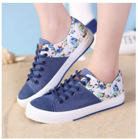Summer-2014-Unisex-Women-Sneakers-Classic-Casual-Lace-Canvas-Shoes-low-tide-wild-Korean-women-Flats Travel Style- 20 Cute Summer Travelling Outfits for Women
