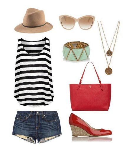 stripes-448x500 Travel Style- 20 Cute Summer Travelling Outfits for Women