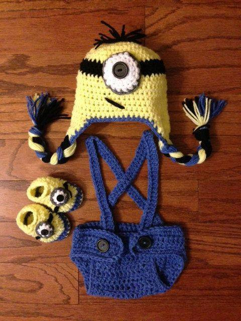 Crochet Patterns For Baby Overalls : 12 Cute Minion Outfits for Babies/Toddlers You will Love