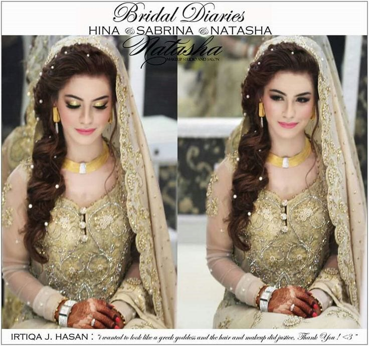 Hairstyles Pakistani Waleema: 25 Easy And Gorgeous Hairstyles For Walima Function