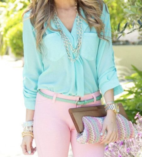 blouse1-452x500 18 Cute Pastel Outfit Combinations and Ideas to Wear Pastel