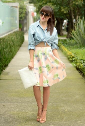 chambray1-341x500 18 Cute Pastel Outfit Combinations and Ideas to Wear Pastel