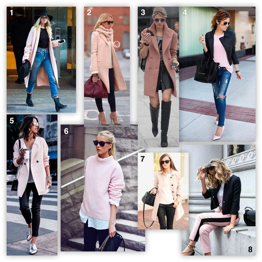 how to wear pastels with black