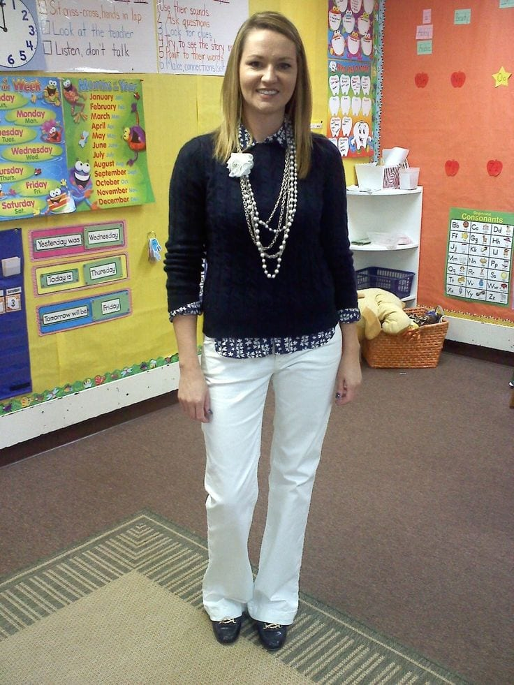 cute outfits combinations for teachers (17)