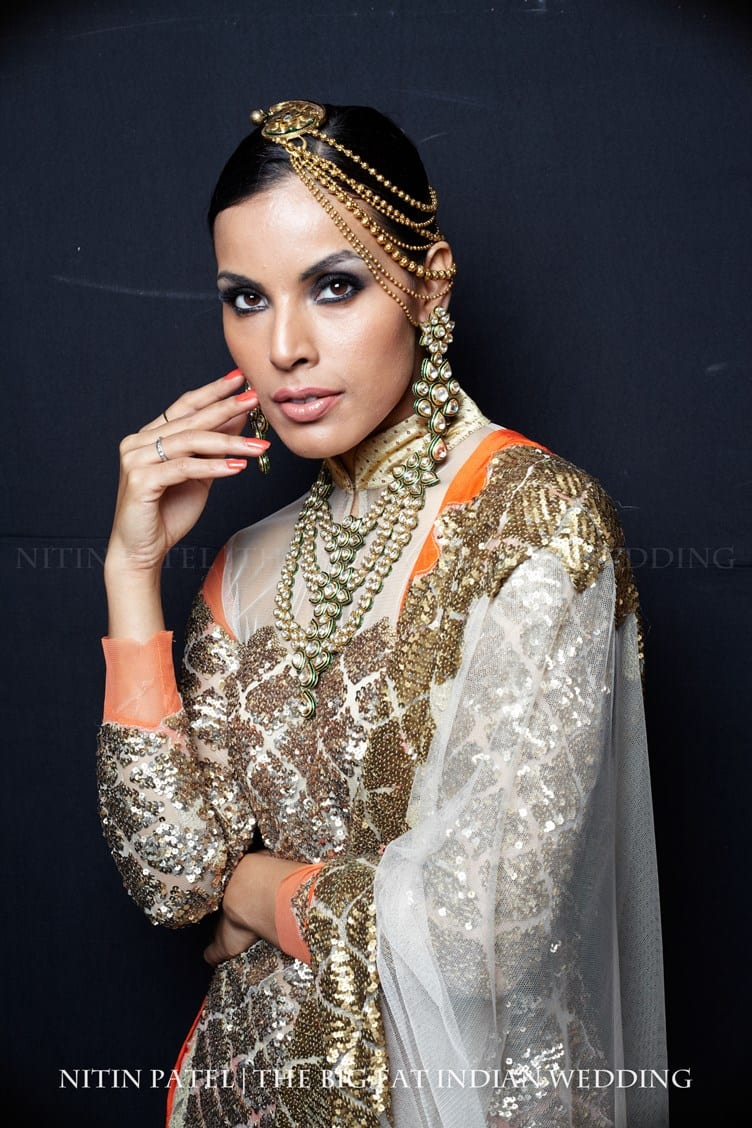India-Bridal-Week-Behind-the-Scenes-2013-39 How to Wear Maang Tikka in 15 Different Styles