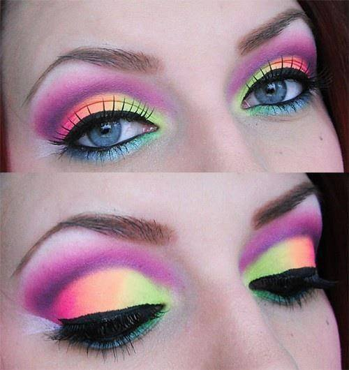 Makeup ideas for holi festival