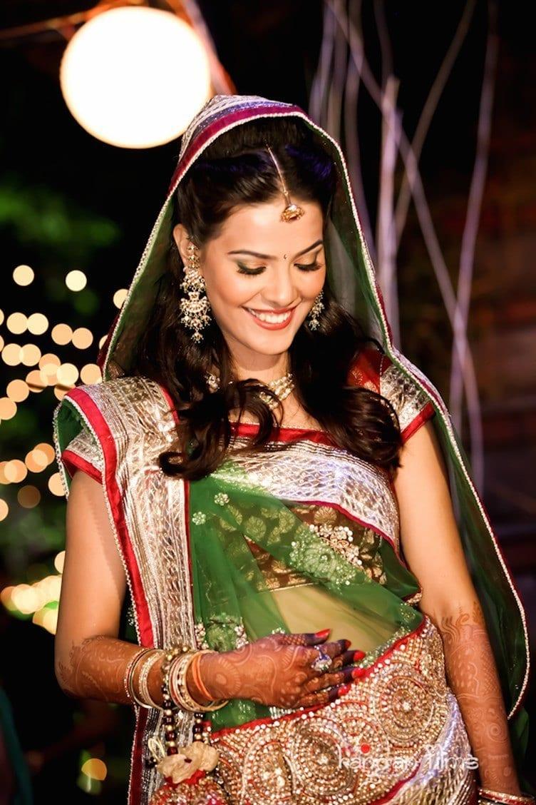 Marwari-Indian-Wedding033Sangeeth1033 How to Wear Maang Tikka in 15 Different Styles