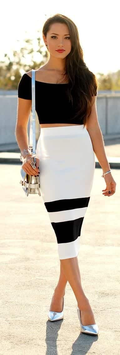 fa65ccb457915c9755fc1bbccb7fa9a0 10 Matching Outfits To Wear With Pencil Skirts for Chic Look