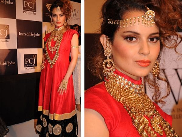 kangna_ranaut_amrapali_600x450 16 Cute Hairstyles with Maang tikka/Maatha Patti This Season