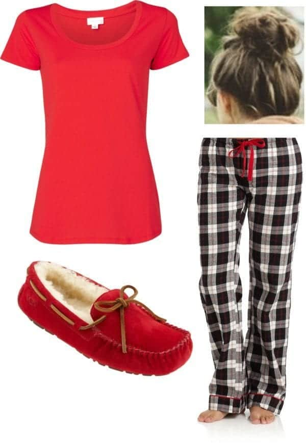 polyvore-pajama-outfits 30 Cute Outfits to Wear with Pajamas/PJs to Look Gorgeous
