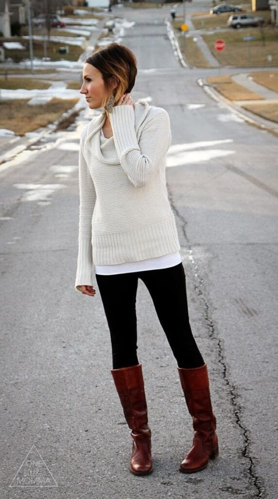 tall-boots-long-legs-572x1024 Tall Girls Fashion -35 Cute Outfits Ideas for Tall Ladies