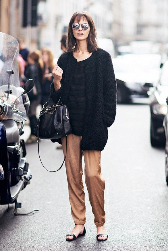 what-to-wear-with-pajama-style-pants 30 Cute Outfits to Wear with Pajamas/PJs to Look Gorgeous