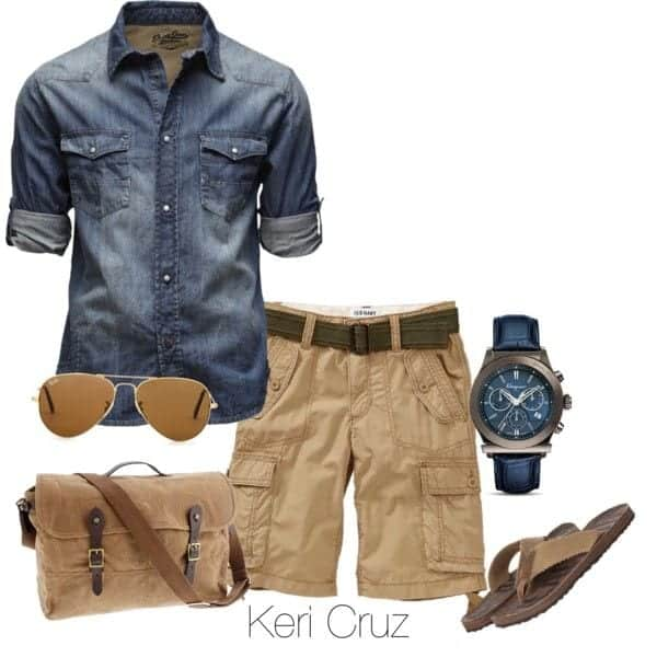 16 20 Stylish Men's Outfits Combinations with Shorts - Summer Style