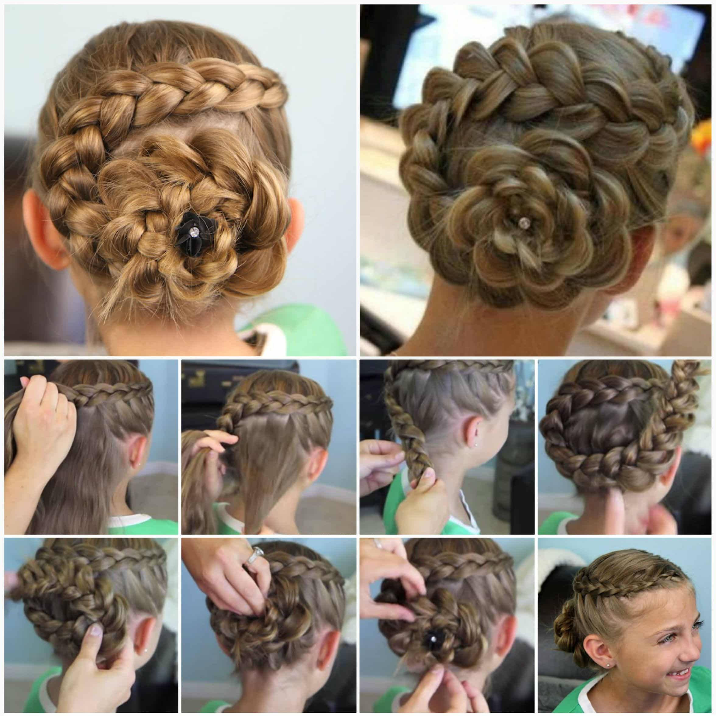 ... Styling Ideas For Girls Dutch Flower Braid