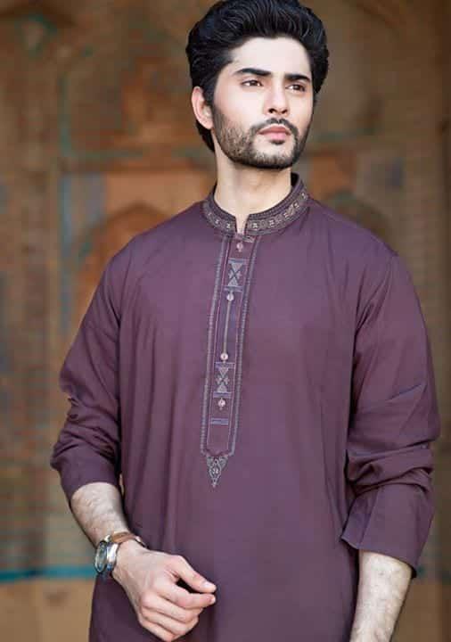 2018 Men Eid Dresses 15 Latest Eid Kurta Shalwar Designs Men