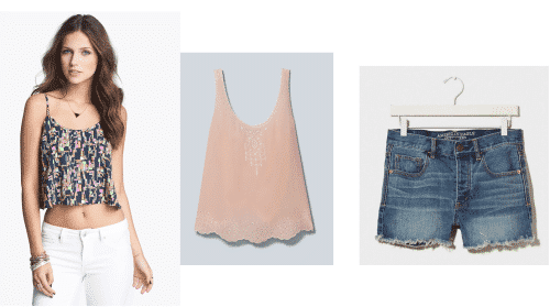 TheStyleSpy-BBQ-Outfits-DenimShorts BBQ Party Outfits– 20 Cute Women Outfit Ideas for BBQ Party