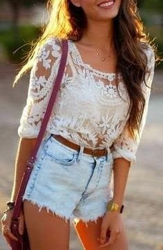 cute11 17 Ideal Outfits that Go with Long Hairs - Dressing Tips
