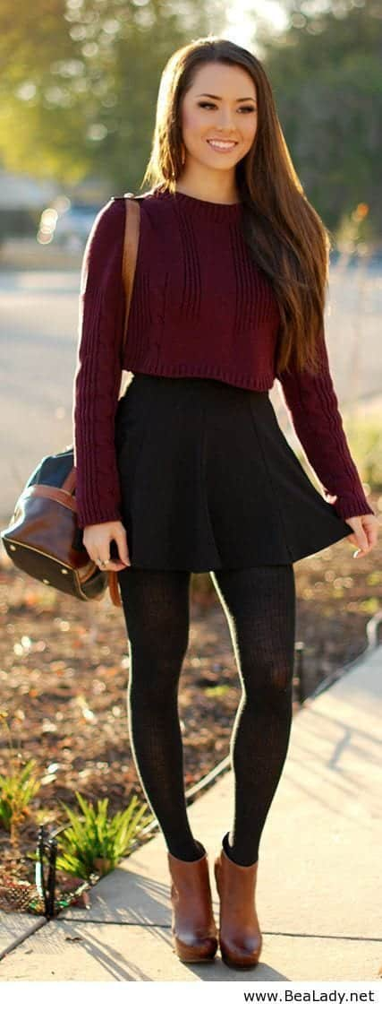cute6 17 Ideal Outfits that Go with Long Hairs - Dressing Tips