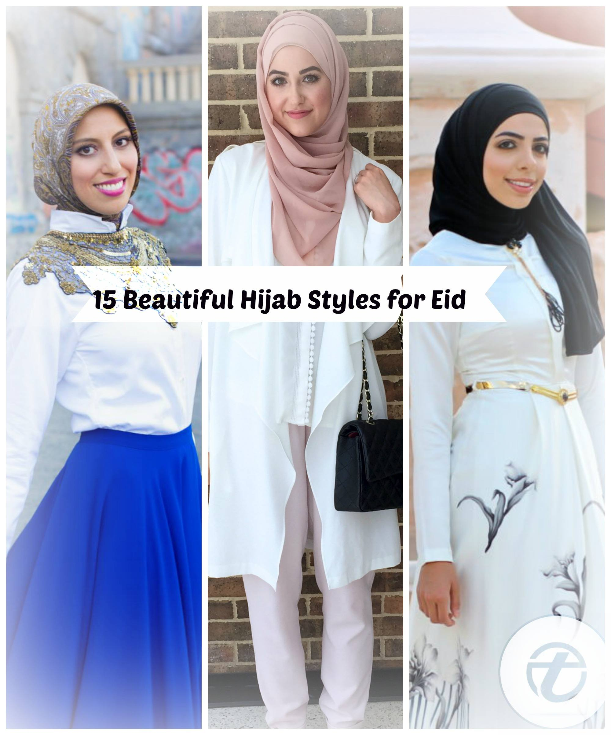 eid-hijab-ideas 15 Latest Eid Hijab Styles with Eid Dresses-2018 Eid Fashion