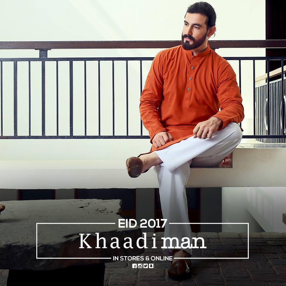 khaadi-eid-collection-for-men 15 Latest Men's Eid Shalwar kameez Designs for This Eid