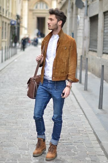 male outfits with timberland shoes