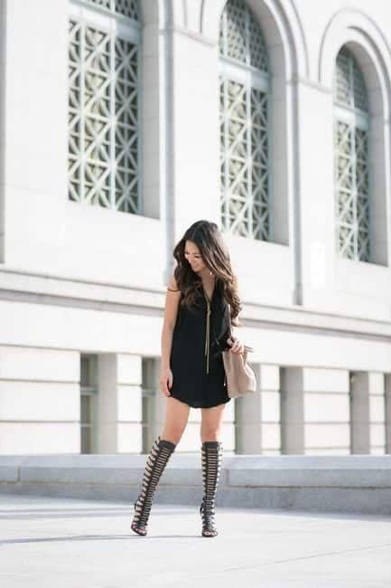 outfits with gladiator heels 4