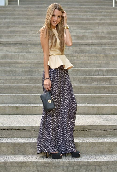 peplum top with palazzo pants