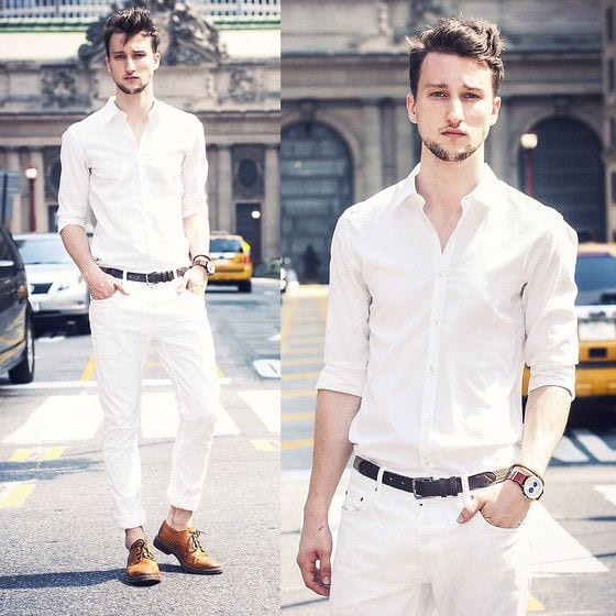 Mens White outfits party outfits
